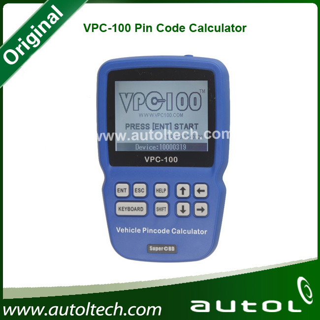 Latest Arrival VPC-100 Hand-Held Vehicle PinCode Calculator VPC100 VPC 100 Original High Quality Support Almost All Cars(China (Mainland))