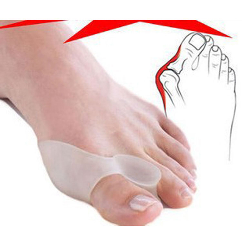 1pair=2pcs Soft Beetle-crusher Bone Ectropion Toes outer Appliance Silica Gel Toes Separation Health Care Products Foot Massage(China (Mainland))