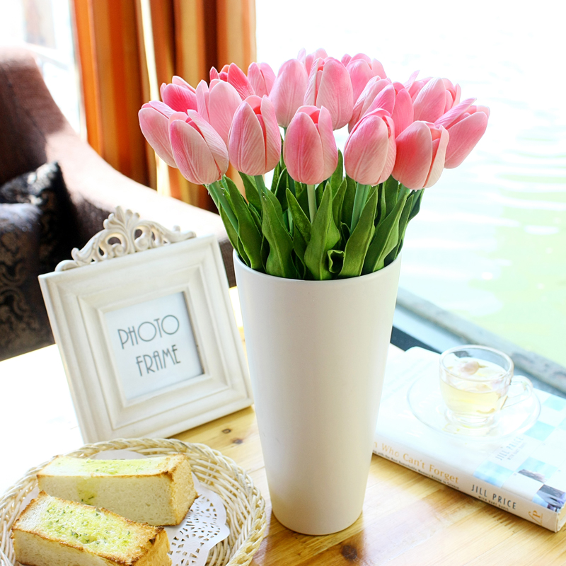 Quality pu artificial flower home decoration flower for Artificial flowers decoration home