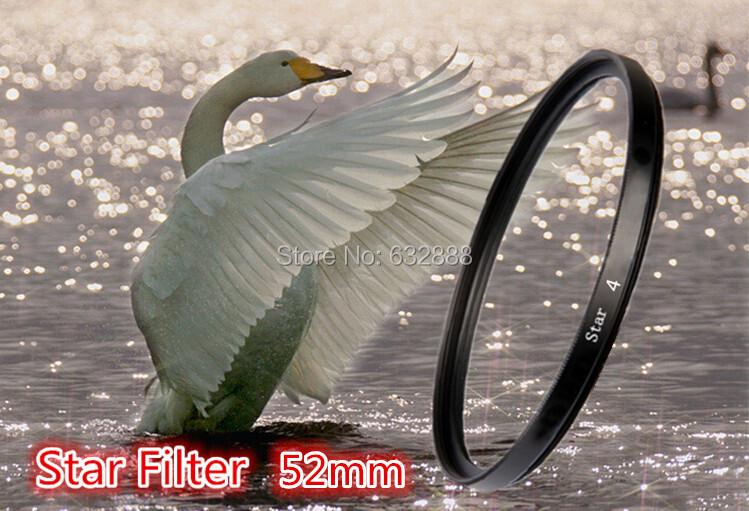 52mm Lens Star Filter Cross 4 4x 4pt Point For Nikon D5200 D5100 D5000 D3100 D3200 D3000 D60 D40X D40 D50 1pcs(China (Mainland))
