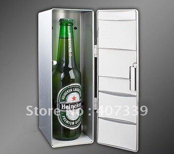 Free shipping Mini USB PC Fridge Refrigerator Beverage Drink Can Cooler/Warmer