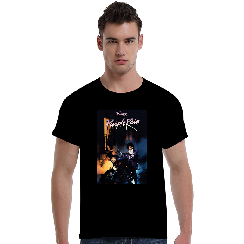 Prince Roger Nelson Musician and Singer Purple Rain Summer Fashion O-neck Cotton Short Sleeve Tee Shirt For Man 1102(China (Mainland))