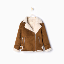 High Quality Cashmere Girls Jacket Winter Girls Clothes Jacket Fashion Spring Jackets Girls Kids Brown Zipper Jackets Hi-Q(China (Mainland))