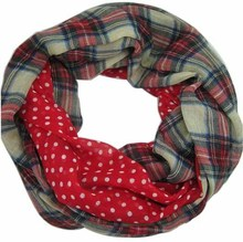 Free Shipping 2015 New Fashion Navy Beige Tartan Dotted and Plaid Check Infinity Scarf Snood Scarves For Women /Ladies,9 Color