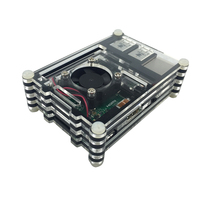 New arrival Raspberry Pi case Raspberry pi 2 Alicry case 9 Layers box with Cooling Fan