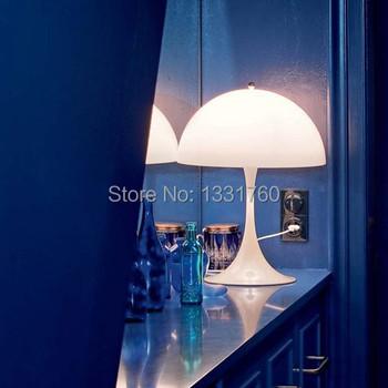 Denmark Verner Panton Design Panthella Pan Sela White AcrylicTable Lamp Living Room Bedroom Bedside Desk Light Dia 400mm*H 580mm