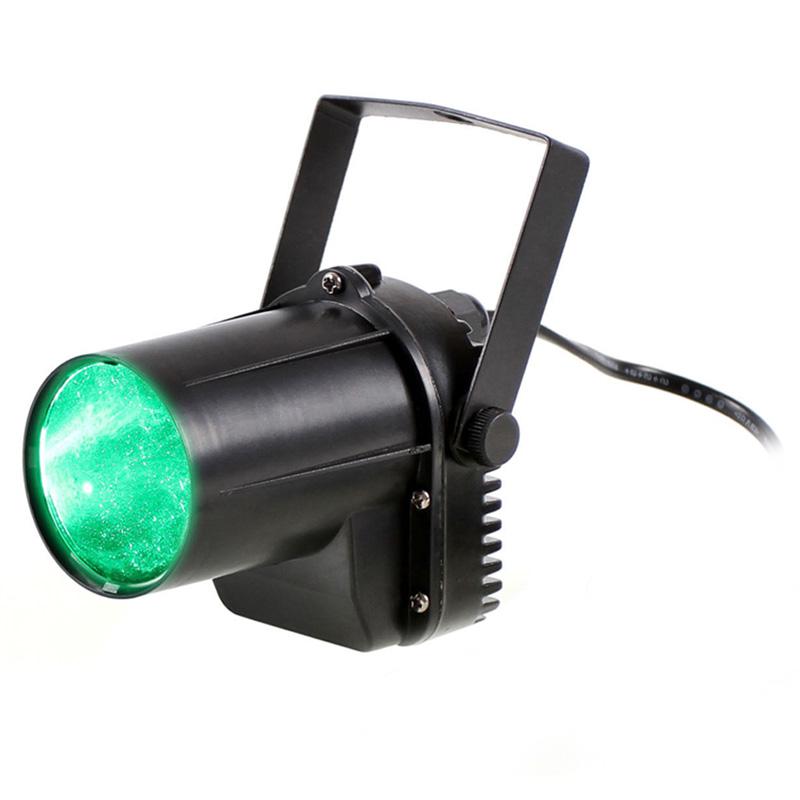 Mini Green Light 3W LED Stage Lighting Party Effect Spotlight DJ Disco Light US Plug(China (Mainland))