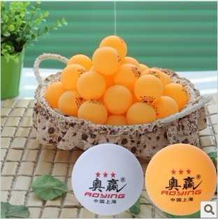 Free Shipping 200pcs big nice   3-Star 40mm Table Tennis Balls  Ping pong balls orange