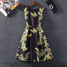 Buy Summer Dress 2017 Fashion Vintage Print Sleeveless women Dress Casual Party Dresses Vestidos Plus size women clothing for $28.00 in AliExpress store