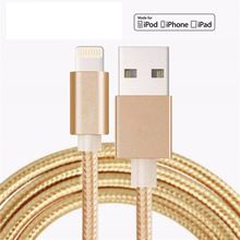 Good 1.5M Metal Braided Mobile Phone Cables Charging USB Cable Charger Data For iPhone 5 5S 6S 6 6 plus IOS Data accessories