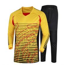 New Men\u0027s Soccer Goalkeeper Football Jerseys Goalie Door Keeper Tops Shirt with Pants Cheap high quality