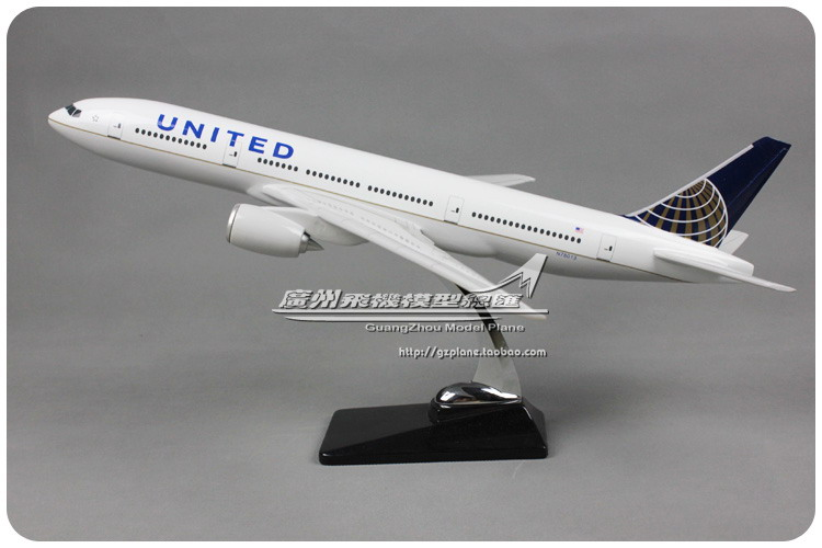 47cm Resin Air UNITED Airlines Boeing B777 Airways Airplane Model Plane Model Toy Collections Decoration Gift(China (Mainland))