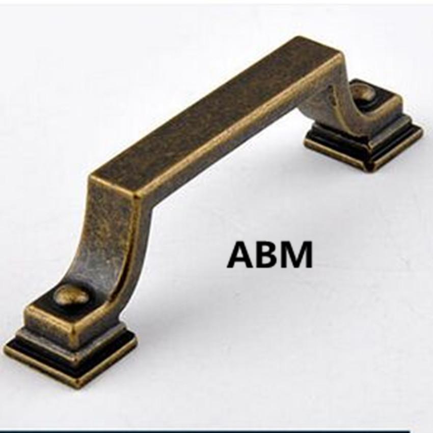 76mm Retro fashion rustico furniture handle bronze kitchen cabinet drawer pull knob antique iron dresser cupboard door handle 3<br><br>Aliexpress
