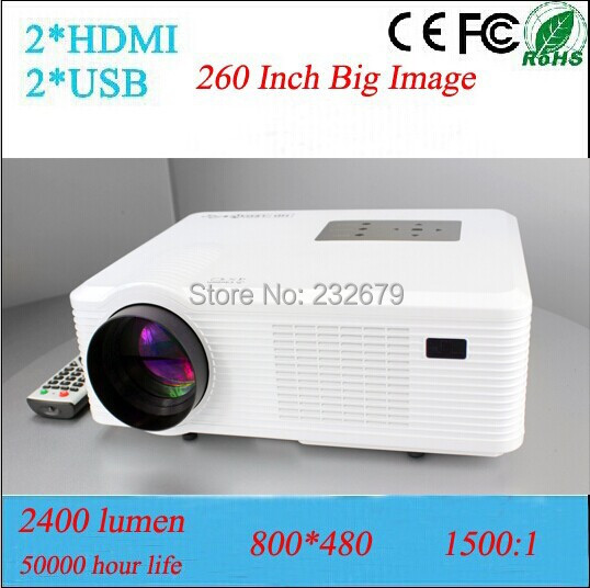 Support 3D Video Projector Full hd 1080p With 50000 Hours Led Lamp HDMI+USB+VGA+TV Media Tuner 2 Speakers Build-in(China (Mainland))