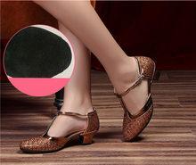 HoYeeLin Yeni Modern Dans Ayakkabı Kadın Bayanlar Kapalı Toe Tango Ayakkabı Standart Vals balo salonu Dans Topuklu Kapalı Süet Taban(China)