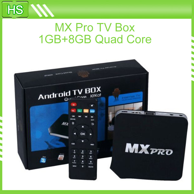 New Quad core Android 4.4.2 Smart TV Box MX Pro Media Player 1080P WIFI HDMI XBMC YOUTUB IPTV Box(China (Mainland))
