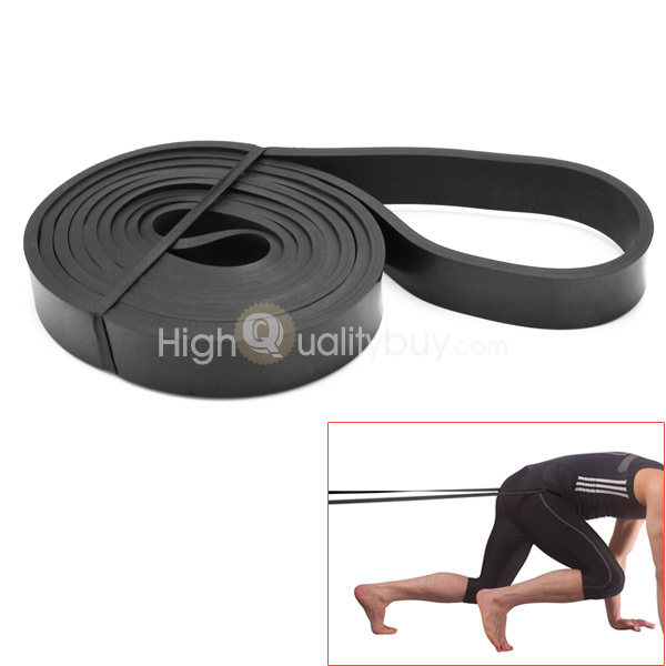 Crossfit Resistance Band Exercise Power Strength Weight Training Fitness Black