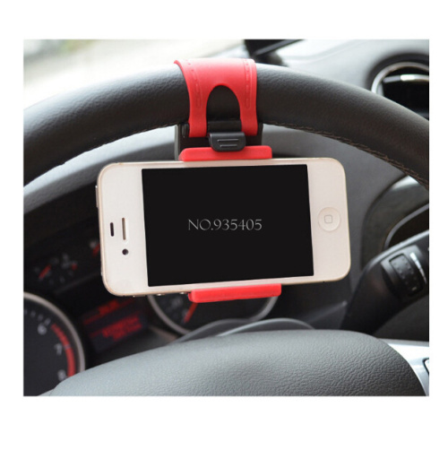 Hot Universal Car Steering Wheel Mount Holder Rubber Band For iPhone iPod MP4 GPS Mobile Phone Holders for Samsung(China (Mainland))