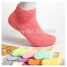 12 pairs=1 lot new arrival candy colors women socks Microfiber Towel solid casual socks Free Shipping MF656415