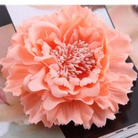 Hair accessory fabric peony big flower corsage brooch child full dress work wear hat flower