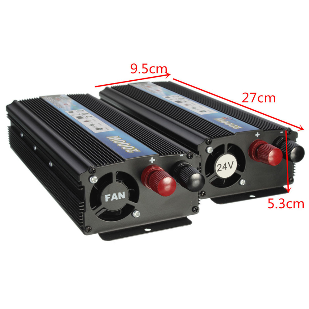 Car Power & Chargers DC 12V 24V to AC 220V 110V 2000W Car Vehicle USB Power Inverter Adapter Converter(China (Mainland))