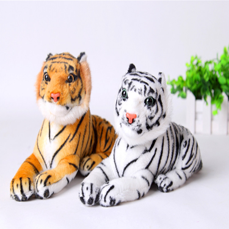 Good Quality Cute Plush Tiger Animal Toys White Yellow 2 Colors Lovely Stuffed Doll Animal Pillow Children Kids Birthday Gifts(China (Mainland))