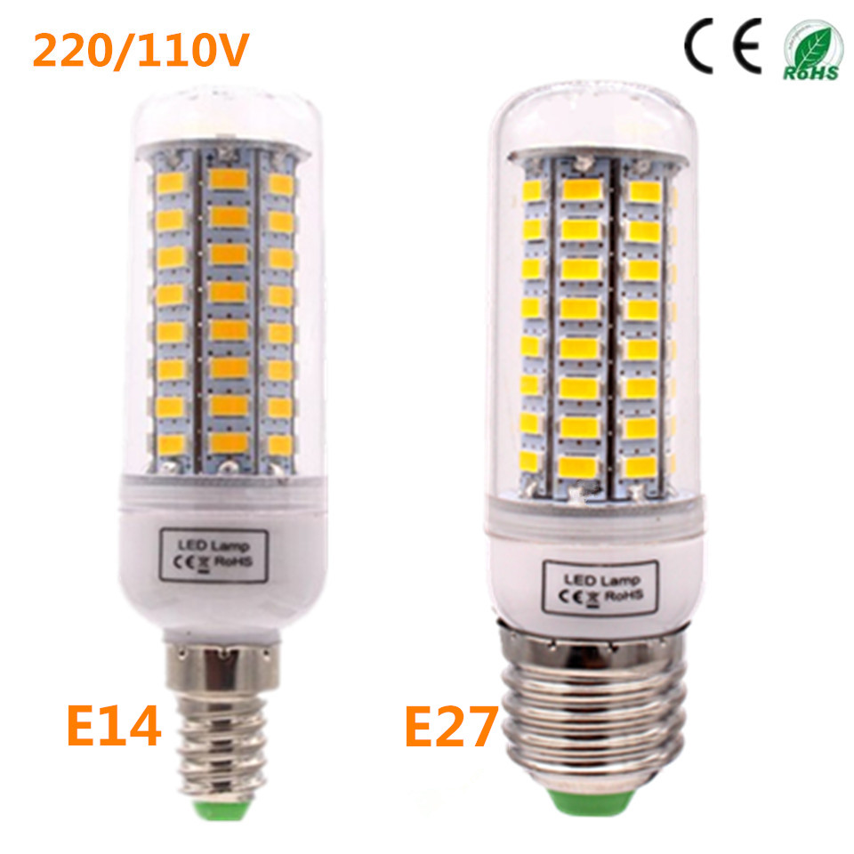 Led lighting lamp lowest price 1pc lot e27 e14 smd5730 220v led corn bulb e27 e14 lamp 72led Led light bulb cost