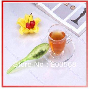 D19+50pcs/lot Tadpole Spoon Teaspoon Tea Strainer Infuser Filter New + Free Shipping