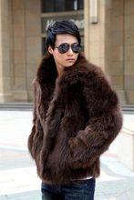 Plus ขนาด 3X แฟชั่นผู้ชาย Fluffy Faux Fur ฤดูหนาว Turn - down Collar Thicken Coats Outerwear Slim Fit แจ็คเก็ต Y1880(China)
