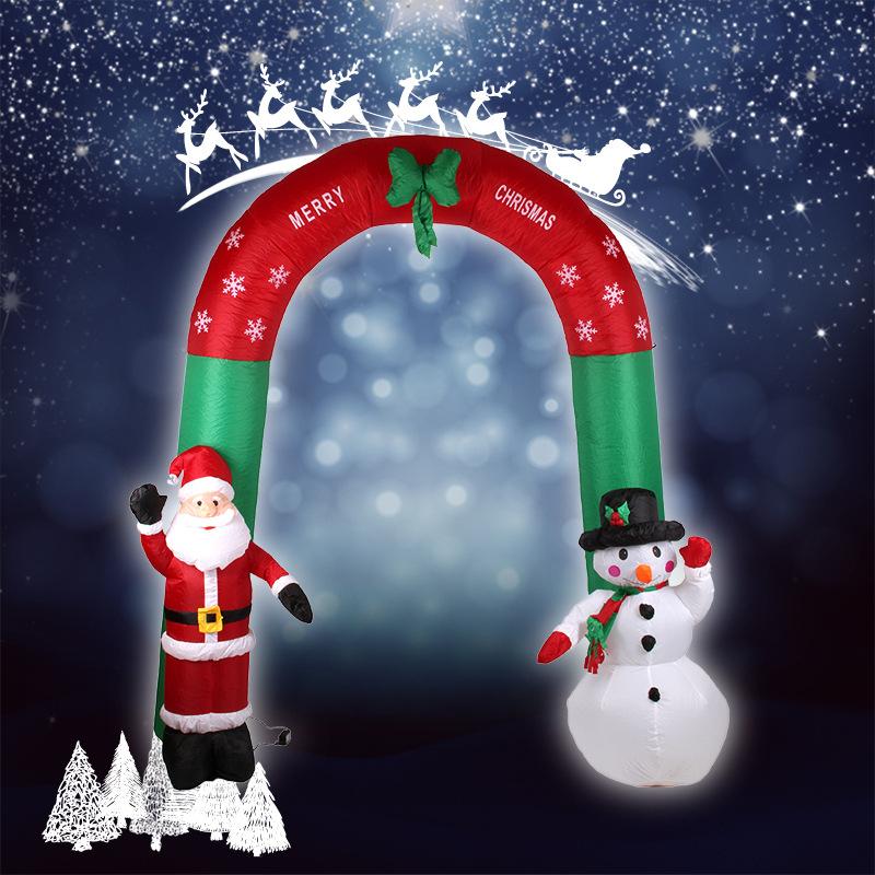 2.4M Santa Claus and Snowman decoration Christmas decoration Christmas door decoration,inflatable christmas decoration(China (Mainland))
