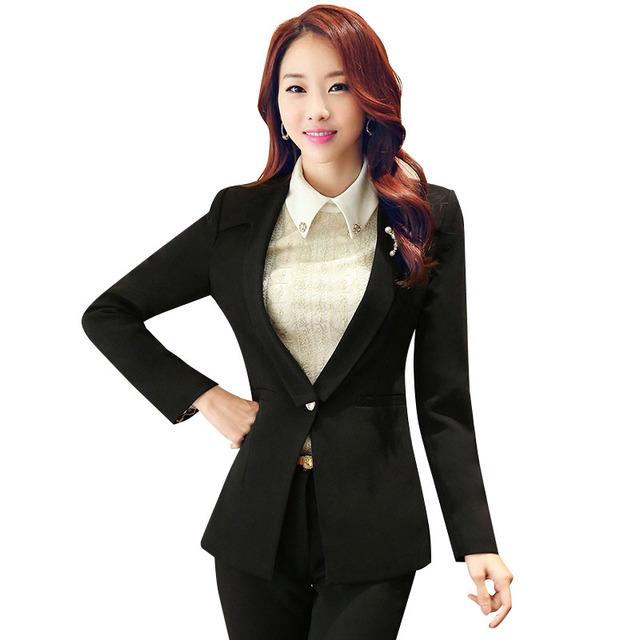 Женщины пиджаки и куртки 2015 Осень новое прибытие Офис дамы OL костюм элегантный ...