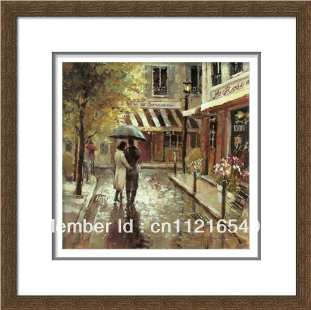 handpainted PS frame spray romantic street Art painting oil painting