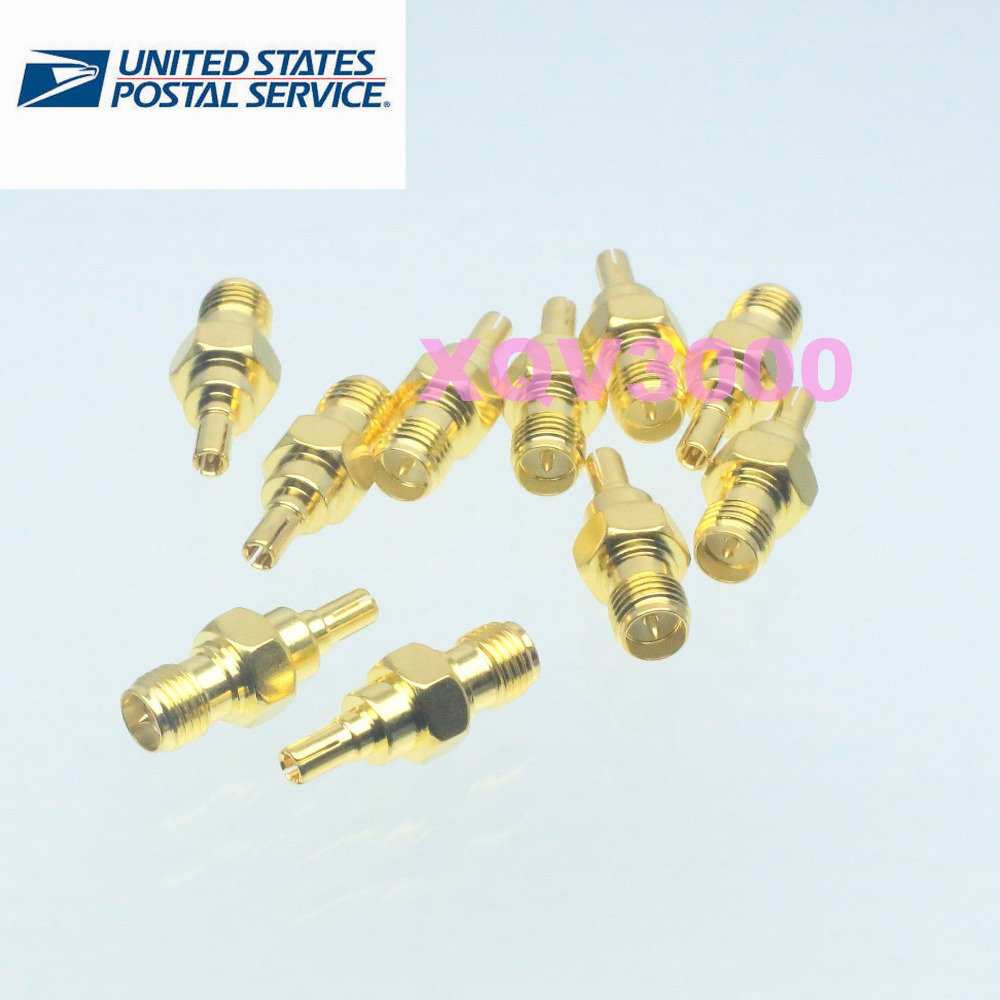 10pcs RP-SMA female plug center to CRC9 male adapter connector for 3G USB Modem(China (Mainland))