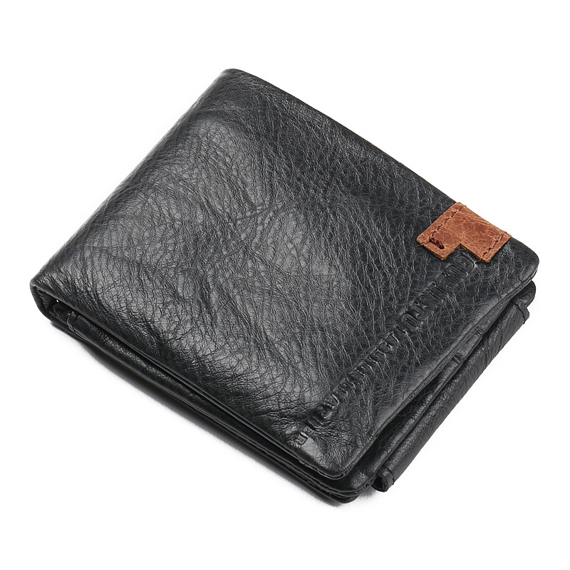 GUBINTU Brand genuine leather wallet 100% real cowhide trifold purse multifunction card slots zipper pocket fashoin casual style(China (Mainland))