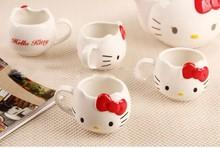 Hello K Drinkware Tea Kettle 5pieces set High Quality Hello Kitty Tea Pot 900ml cup150ml Novelty