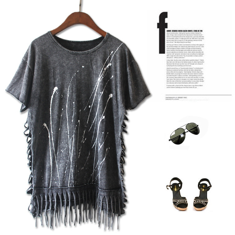 Женская футболка Pok camisetas ropa mujer roupas femininas punk rock женская футболка brand new 2015 tshirt roupas femininas