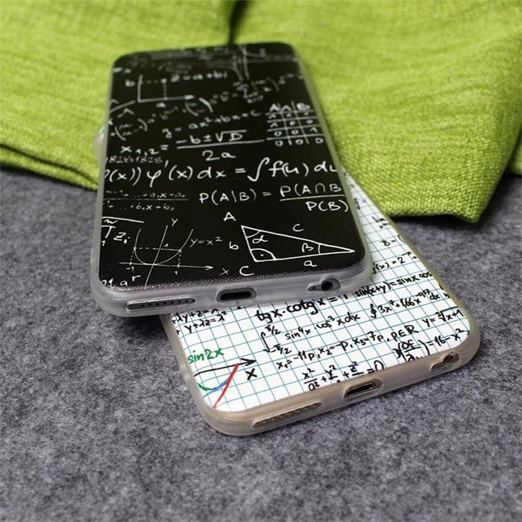 Math calculate figure Silk hard Acrylic with soft tpu frame Shell for iphone 6 6s 4.7″ 6plus 6s plus 5.5″ newest back case