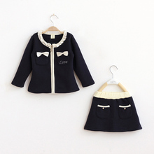 NEW 2015 Children Girls Dress Gorgeous Dress Cotton Cute Girls Cloth Autumn Style Baby Clothes Full Kids Dresses for Girls CCT33