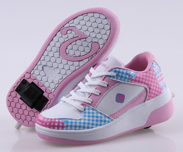 New 2015 Children Shoes Automatic Child Heelys Girls Roller Shoes Boy Sport Roller Skates Kids Fashion Sneakers(China (Mainland))