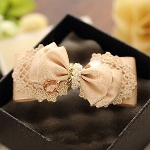 High Quality Headwear Pink Bow Tie Hairgrips Lace Flower with Pearl Hair Pins Women Hair Accessories Free Shipping(China (Mainland))