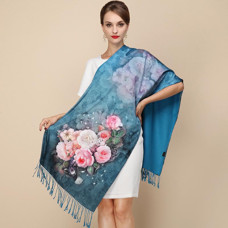 100 Silk 2016 Maisun New Style Shawl Brand font b Tartan b font Design Silk Scarf