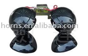 Car double electronic horn car 4wd big snail horn dl34bg 12v ,24v black auto Speakers(China (Mainland))