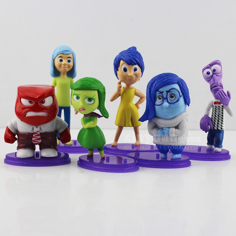 action figure juguetes movie inside out toys Joy Sadness Anger Disgust Fear 6 pieces EUB/EMS gift for friends(China (Mainland))