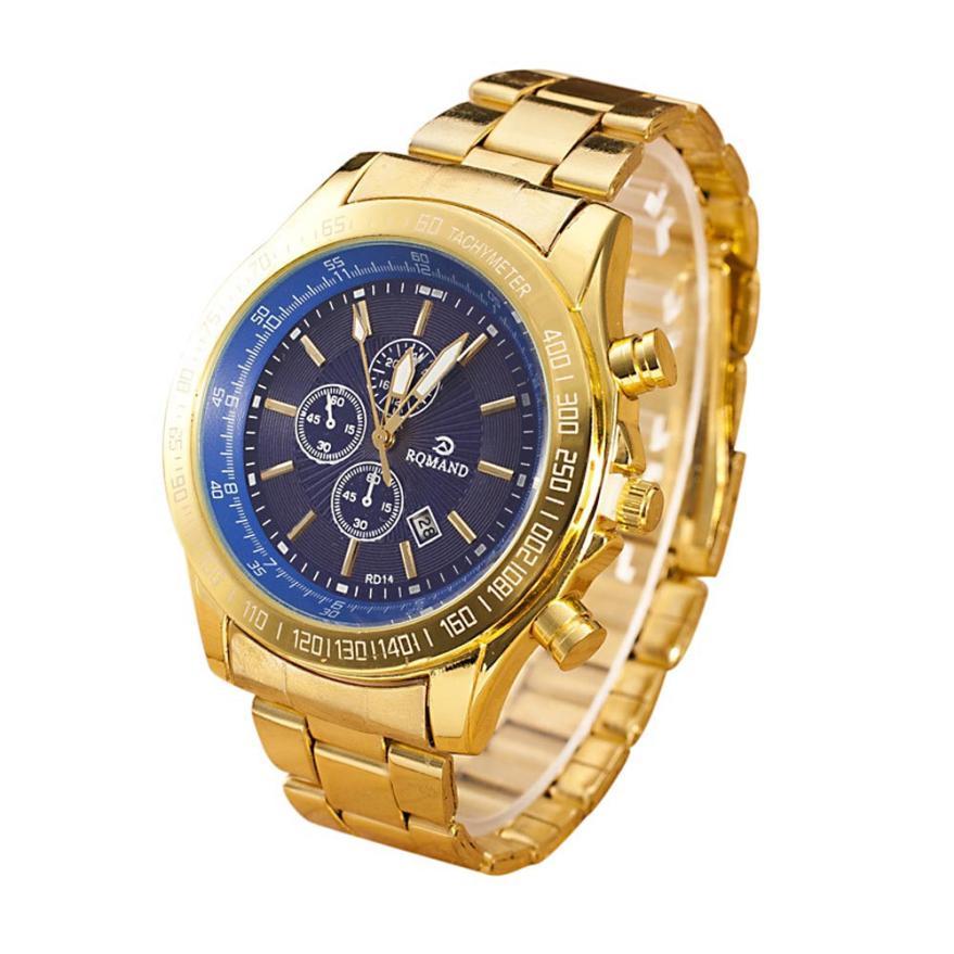 Hot Marketing 2016 Men Stainless Steel Watch Analog Quartz Movement Wrist Watches F04(China (Mainland))