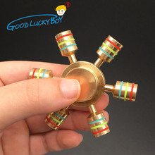 Buy Rainbow Fidget Spinner Metal Finger Spinner Copper Bearing Hand Spinner Brass Autism Adult Anti Relieve Stress Toy Spiner for $5.87 in AliExpress store