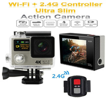 H3R Ultra HD 4K Sport Action Camera Dual Screen 2″ LCD WiFi Waterproof Helmet Camcorder For GoPro Hero 4 Style+Remote Controller