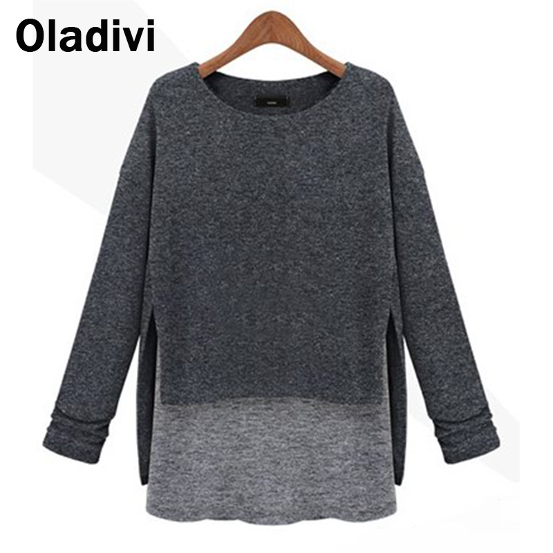 XXXXXL Large Size Women Clothing 2016 Spring Autumn Female Patchwork Tops Tees Long Sleeve Shirt Girl Pullover Retail - Oladivi official store