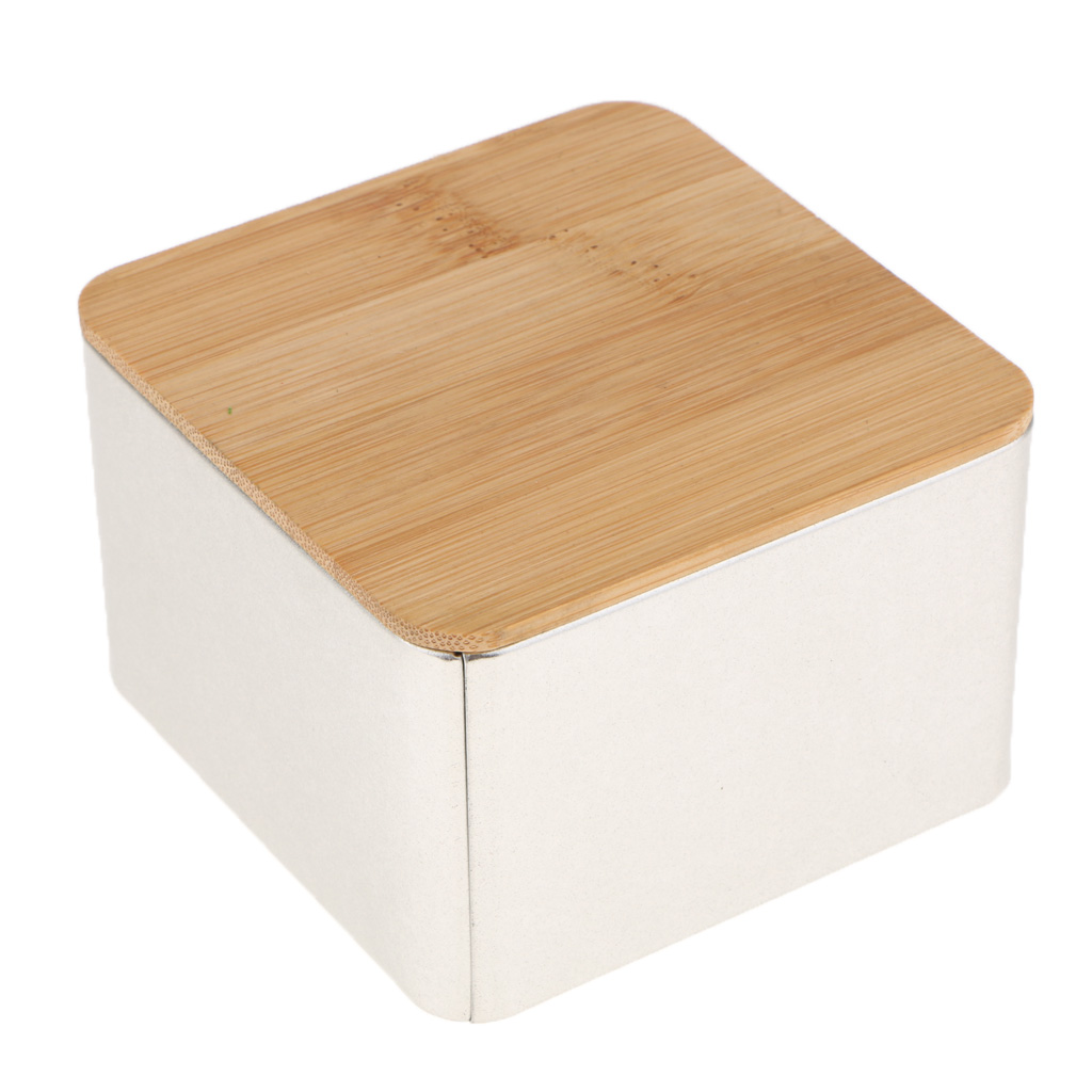 Bamboo Lid Storage Boxes Wooden Containers Organizer Tea Storage Box Caddy Jars Coffee Cans