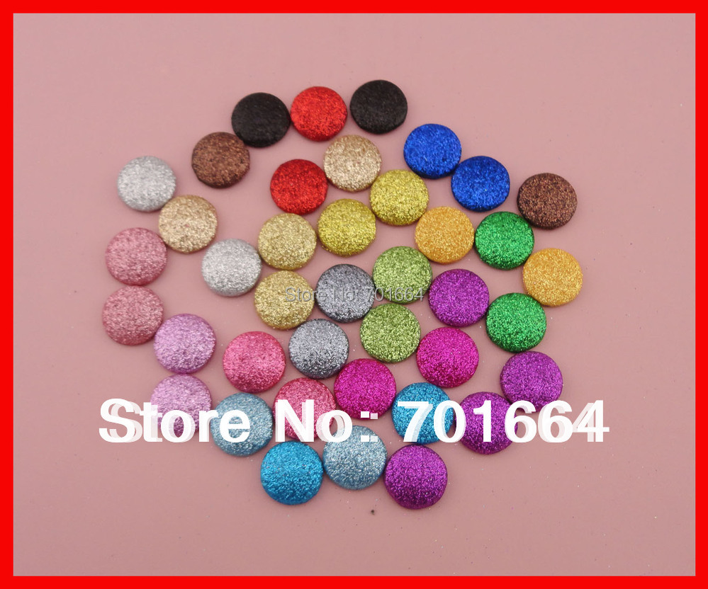 Bargain for Bulk 20mm round multi colors glitter covered button with flat back as hair accessories and jewelry accessories<br><br>Aliexpress