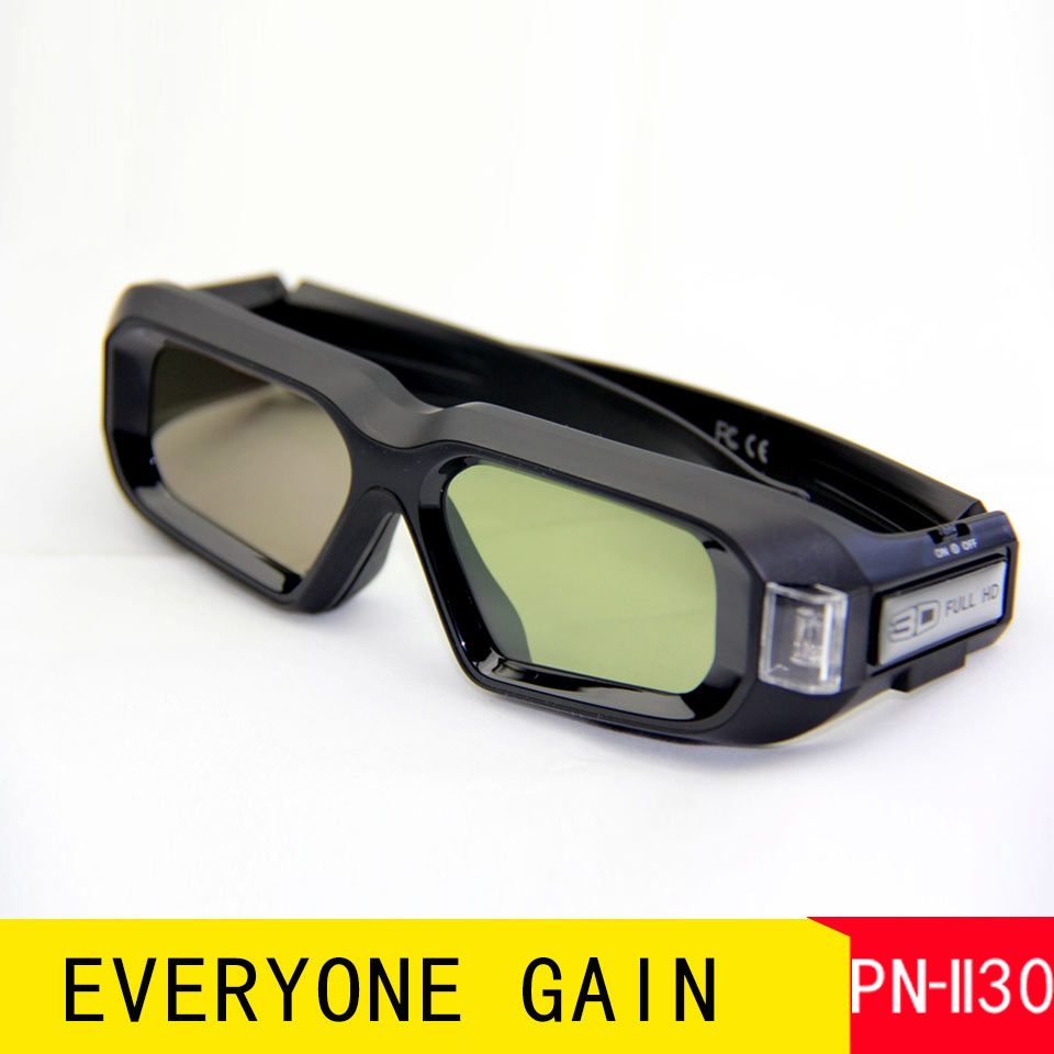 PN-II30 Premium 3D DLP Vedio Glasses Active Shutter Work Long Time Eyeglasses Home Office Business Projector Immersive Glasses(China (Mainland))